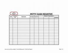 Cash Register Log Template Petty Cash Register Template Cash Register Templates