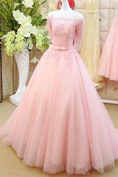 sleeve formal dress free pink prom dresses boat neck half sleeve