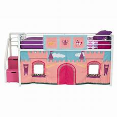 dhp princess castle curtain set for junior loft bed