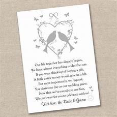 Wedding List Poems 25 X Vintage Lovebirds Wedding Poem Cards For Your