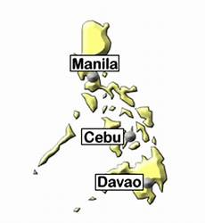 Philippines Map Travel Information Tourism Holidays