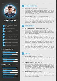 Professional Curriculum Vitae Templates Slade Professional Quality Cv Resume Template By