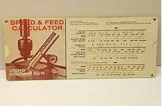 Smith Chart Slide Rule Vtg Vortec Corporation 606 Cold Air Gun Speed Amp Feed