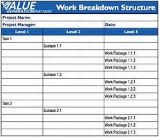 Work Breakdown Structure Generating Value By Using A Work Breakdown Structure Wbs