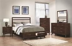 Coastal Bedroom Furniture 205041 5pc Bedroom Set By Coaster W Options