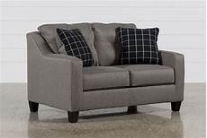 Brindon Sofa 3d Image by Brindon Charcoal Loveseat Living Spaces