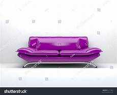 Lilac Sofa 3d Image lilac sofa isolated on white background 3d stock photo