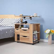 laptop desk multifunctional modern rolling wood