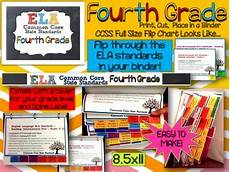 Common Core Flip Charts Ela Common Core Standards Grade 4 Full Size Binder Flip