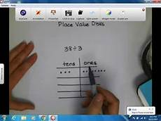 Place Value Chart With Disks Division Using Place Value Disks 1 Youtube