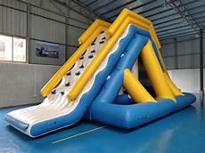 Floating Slide 0 9mm Pvc Tarpaulin Giant Inflatable Floating Water Slide
