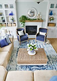 Decorating With White New Blue And White Living Room Updates Sand And Sisal