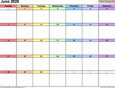 Publisher Calendar Templates 2020 June 2020 Calendar Templates For Word Excel And Pdf