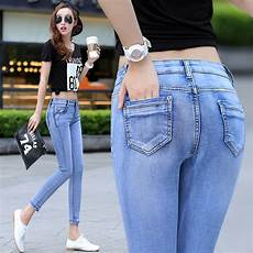 What To Wear With Light Blue Jeans Summer 2015 Women Jeans Women S Feet Pencil Pants Stretch