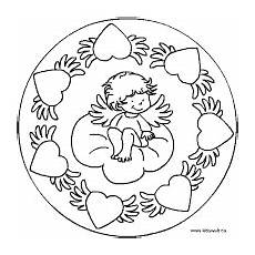 Mandala Engel Malvorlagen Popular Images Mandala Herz Und