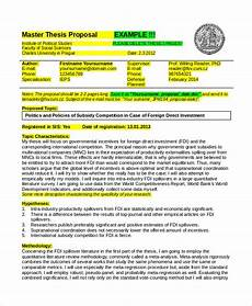 Thesis Proposal Template Word Thesis Proposal Template 9 Free Word Pdf Document
