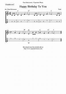 Happy Birthday Ukulele Chords Quot Happy Birthday To You Quot Ukulele Sheet Music Free
