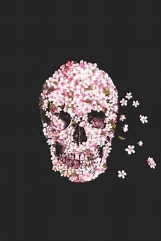 floral skull iphone wallpaper pink floral skull wallpaper wallpaper