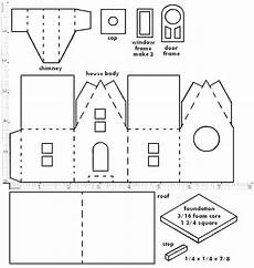 3d Paper House Cutouts Little Glitter Houses Pattern You May Print The