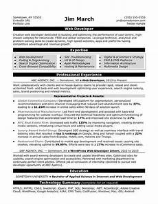 Wordpress Developer Resume Web Developer Resume Sample Monster Com
