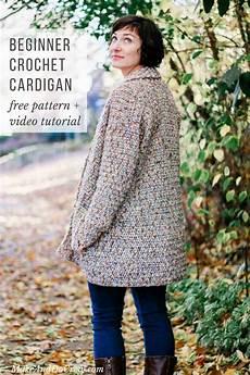 crochet cardigan pattern for beginners free pattern