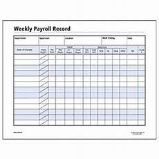 Printable Payroll Sheets Socrates Weekly Payroll Record Form Somhr120 Shoplet Com