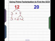 What Is Prime Factorization Using Prime Factorization To Find Greatest Common Divisor