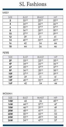 American Rag Size Chart Women S Sl Fashions Size Charts Including Plus Via Dillards Com