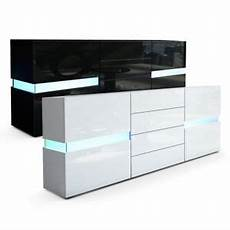 sideboard cabinet chest of drawers cupboard flow in black