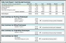 Report Cash Cash Receipt Summary Firm Options Inc