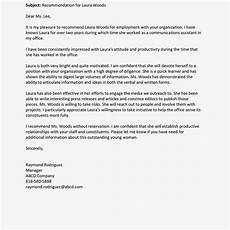 Sample Letter Of Recommendation For Employment Definition Format And Example Of Recommendation Letter