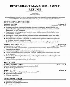 Restaurant Manager Resume Sample Restaurant Manager Resume Template Restaurant Management