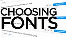 Best Graphic Design Fonts Graphic Design Tutorial Choosing Fonts Youtube