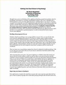 Graduate Application Essay Sample Graduate Admission Essay Es Example E Personal Statement