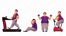 hommes faisant du sport gros homme faire des exercices de sport isol 233 s sur fond