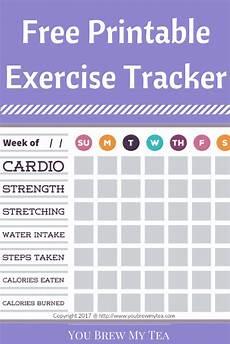 Printable Exercise Tracker Free Printable Exercise Tracker You Brew My Tea