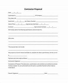 Sample Construction Bid Proposal Free 8 Sample Construction Proposal Forms In Pdf Ms