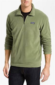 Design Your Own Half Zip Patagonia Micro Deluxe Fleece Half Zip Pullover In Green