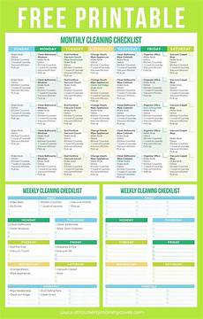 Printable Cleaning Schedule Template Maintain A Clean Home Printable Cleaning Schedule