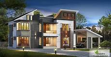 4 Bhk House Design Plans 4 Bhk Ultra Modern Home Plan Greenlinearchiects