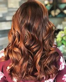 Red To Light Brown Hair Natural Medium Brown Hair With Light Copper Highlights