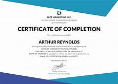 Sample Computer Certificate Free Course Completion Certificate Template In Adobe