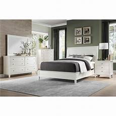 bedroom demarlos parchment white king bedroom set