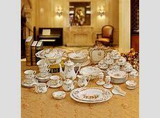 Porcelain Dinnerware Set Bone China Flower Design Embossed