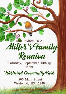 Family Reunion Flyers Templates Family Reunion Template Postermywall