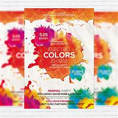 Flyer Color Electro Colors Premium Flyer Template Facebook Cover