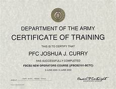Army Certificates Of Training Army Certificate Of Training