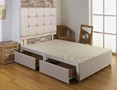 6ft king size divan bed base drawers headboard