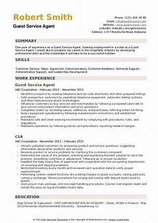 Guest Service Agent Resume Guest Service Agent Resume Samples Qwikresume