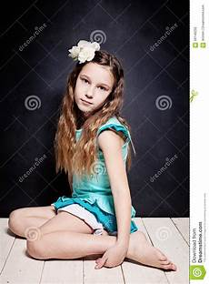 Younger Teens Cute Child Girl Portrait Of Young Stock Photo